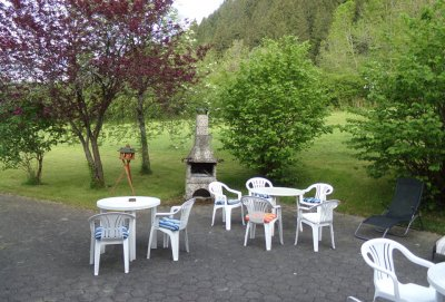Der Grillplatz am Apart-Hotel Happy Kienberg in Pfronten